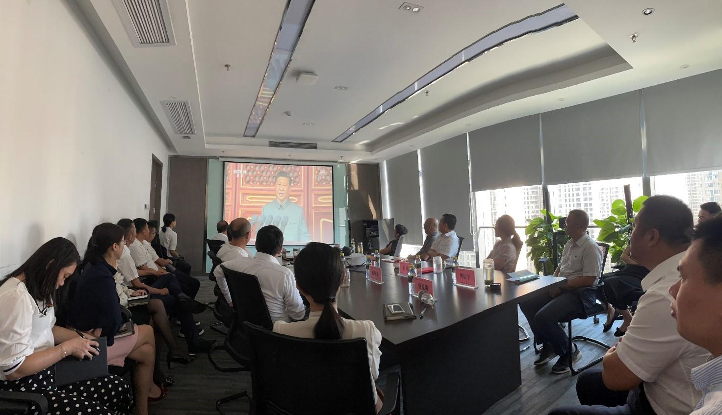 水電集團組織收看慶祝中國共產黨成立100周年大會