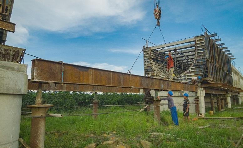 <span>紅嶺灌區東干4標36#渡槽施工現場</span>