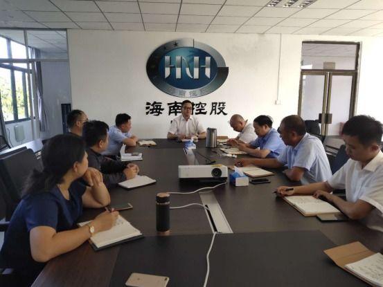 水電集團黨委副書記、總經理趙弈涵在邁灣建管部召開工作座談會